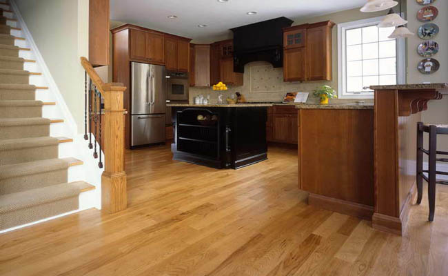 wood floors and stairs