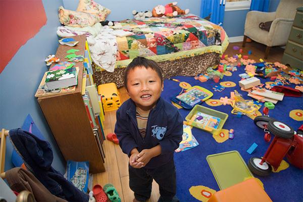 storing children's possessions